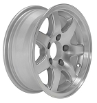 13 x 5 ST02 Aluminum Sendel Trailer Wheel 5 on 4.50 Lug, 1,480 lb Load Capacity
