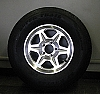 15 inch T04 Aluminum Trailer Wheel and Tire Combo 5 Lug Radial 20575R15