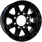 16x6 Matt Black Grinder T08 Aluminum Trailer Wheel, 8 Lug, 3750 lb Max Load