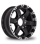 16 x 6 Trailer Rim Matt Black Grinder Machined Lip, 8x6.50 w/ 3,750 lb Load Rating