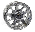 14x5.5 Series 8 Silver Aluminum Trailer Wheel 5x4.5