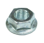 Flanged hex lock nut #14-006-092-01 - fits Dexter 9/16 in shackle bolts with 7/16 in thread - Grade G