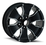 15x6 ION 14 Black Aluminum Trailer Wheel 5x4.5 Lug 2600 lb Capacity