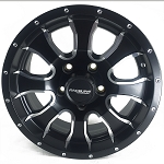 14x6 Aluminum Mamba Matte Black Trailer Wheel, 1900 lb Max Load, Center Cap Incl.