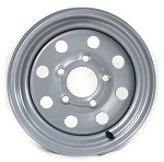 12x4 Silver Modular Steel Trailer Wheel 5x4.5 2724012-92141