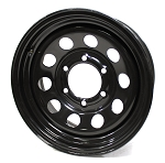 15 x 6 Modular Black Steel Trailer Wheel 6x5.5 2756060-43146