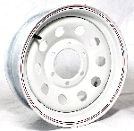 15 x 6 White Modular Trailer Wheel (10-Hole), 6x5.50, 2,850 Capacity