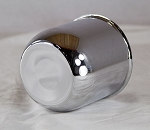 5.15 in Trailer Wheel Center Cap Chrome Plated Steel Closed