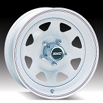 15x6 White Spoke Trailer Wheel 5 Lug, 2600 lb Max Load