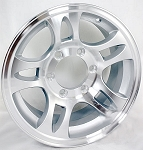 15 x 6 Aluminum Bullet Trailer Wheel 6 on 5.5 Bolt Pattern