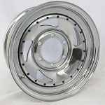 14 x 6 Chrome Blade Trailer Wheel 5 on 4.50 Bolt Pattern