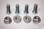 7/16-20 in  x 1 HEX - Grade 5 Zinc Bolts with Locking Nuts (4 pack)