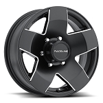 16x6 Phat Star Matte Black Aluminum Trailer Wheel 6x5.5 855-66060