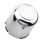 4.25 Chrome ABS Plastic Center Cap Closed End with Plug S1050-425CC