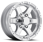 15 x 6 Sendel T08 Aluminum Silver Machined Lip & Spokes Trailer Wheel  6 x 5.50