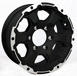 15 x 6 Black Rock Aluminum Trailer Wheel 6 on 5.5