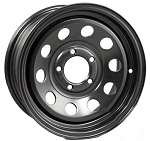 14 x 6 Black Modular Trailer Wheel 5 on 4.50 Bolt Pattern, 1,900 lb Load Rating