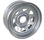 13 x 4.5 Galvanized Steel Spoke Trailer Wheel 5 Lug, 1,660 lb Load Capacity
