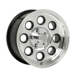 15 x 6 Machined Aluminum Yuma Modular Trailer Rim with Matte Black Inlay 6 on 5.50