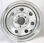 15 x 5 Steel Chrome Tail Gunner Wheel 5 on 4.5