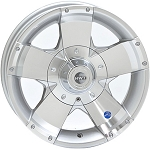 14 x 5.5 HiSpec Series 01 Aluminum Trailer Wheel w/Center Cap, 5 on 4.50