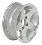 12 x 4 Aluminum Star LT Trailer Wheel 4 on 4 Lug, 1,220 lb Load Capacity