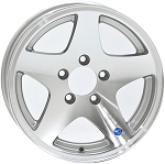 15 x 6 Star Aluminum Trailer Wheel 5 on 4.50 Bolt Pattern