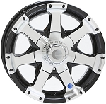 13 x 5 Hi-Spec BLACK Series 6 Aluminum Trailer Wheel 4 Lug, 1,480 lb Load Capacity
