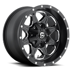 16 x 8 Black Fuel Boost Aluminum 5 x 4.50 Trailer Wheel 2,500 lb Capacity #D53416802645