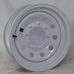 16 x 6 White Painted Steel Modular Trailer Wheel 8 x 6.50 Bolt Pattern 3,760 lb Max Load
