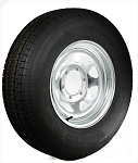 ST225/75R15 LR D Trailer Tire with 15x6 Galvanized Trailer Rim 6 x 5.50 Lug