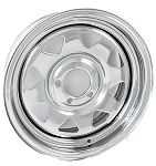 15 x 6 Chrome Spoke Steel Trailer Wheel 5 on 4.50
