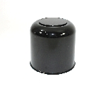 4.90 ABS Plastic Black Center Cap with Removable Plug