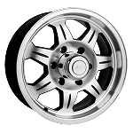 15 x 6 SAWTOOTH Aluminum Trailer Wheel 5 on 5 Bolt Pattern. Plastic Chrome Center Cap with Plug Included