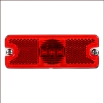 Truck-Lite 18 Series, LED, Red Rectangular, 3 Diode, Maker Clearance Trailer Light
