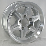 15 x 6 T04 Aluminum Trailer Wheel 6 on 5 1/2