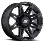 18x9 S35 Recon Sendel Black Aluminum Wheel (Matte Black incl. Black Bolts), 5x4.50 Lug, 2200 lb Capacity