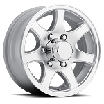 16 inch T02 Aluminum Trailer Wheel 6-Lug CENTER CAP NOT INCLUDED