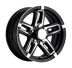 15 x 6 Black T06 Linkster Aluminum Trailer Wheel  (5-Lug)