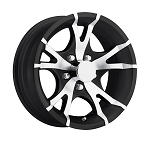 15x6 T07 Matte Black Aluminum Trailer Wheel 5x4.50 T07-56545MTB