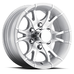15x6 T07 Viper Silver Machined Aluminum Trailer Wheel 6 Lug, 2860 lb Max Load
