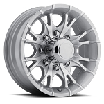 16x6 Silver Machined Viper T07 Aluminum Trailer Wheel 8x6.5 T07-66867SM