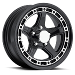 14x5.5 T11 Gloss Black Aluminum Trailer Wheel 5x4.5 T11-45545BM