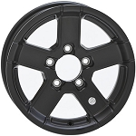 12 x 4 HiSpec Black Series07 Aluminum Trailer Wheel 5 on 4.50 Lug, 1,520 lb Load Capacity