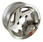 13 x 5 HiSpec Series05 Aluminum Trailer Wheel 4 Lug, 1,480 lb Load Capacity