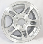 15 x 6 Aluminum Bullet Trailer Wheel 5 on 4 1/2 Bolt Pattern