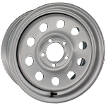 15x6 Silver Painted Modular Steel Wheel 5x5 Bolt Pattern
