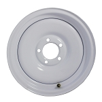 12 x 4 Solid White Painted Steel Trailer Wheel 5x4.50 Lug, 1,220 lb Load Capacity
