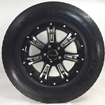 ST205/75R15 Carlisle Radial Trailer Tire LRD with 15x5 Raceline Arsenal 840 Aluminum Trailer Wheel