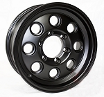 15 x 6 Matte Black Yuma Modular Trailer Rim 6 on 5.50